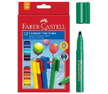 Флумастери Jumbo Connector  Faber-Castell