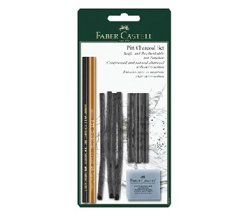 Въглени комплект  Faber Castell Art&Graphic - Monochrome Charcoal set
