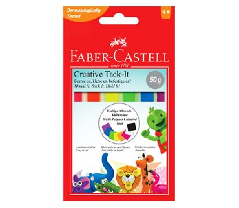 Tack-it Creative Самозалепваща гума - цветна Faber-Castell