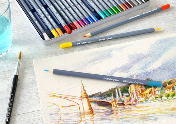 Акварелни моливи Goldfaber Faber-Castell