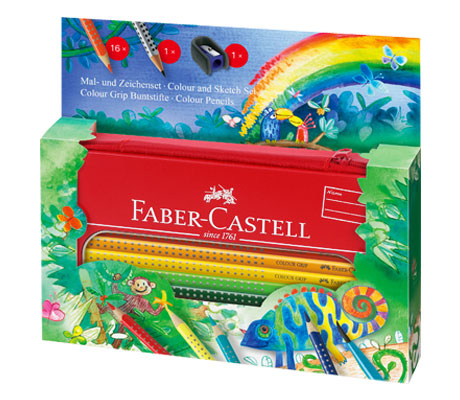 Aкварелни моливи Color Grip с метален несесер   Faber-Castell